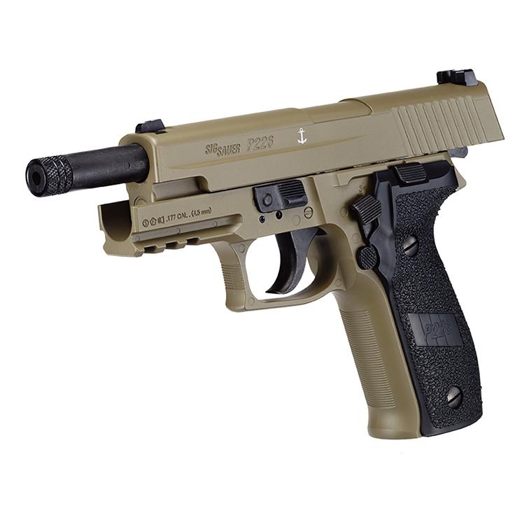 Sig Sauer P226 CO2 Air Pistol FDE Finish  177 Pellet (4 5mm